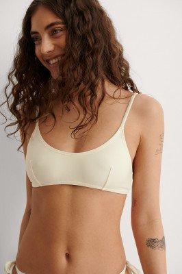 NA-KD Swimwear NA-KD Swimwear Gerecycled Bikinitop - Offwhite