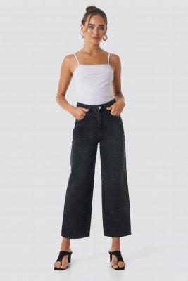 NA-KD Trend NA-KD Trend Loose Leg Jeans - Black