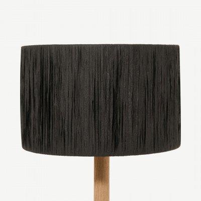 MADE.COM Cruz lampenkap, 25 cm, zwart raffia