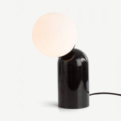 MADE.COM Vetro tafellamp, zwart en opaal glas