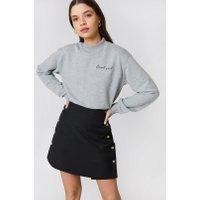 NA-KD Cool Girl Sweatshirt - Grey