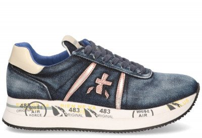 Premiata Premiata Conny 4649 Blauw Damessneakers