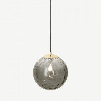 MADE.COM Ilaria badkamer hanglamp, olijfgroen en messing