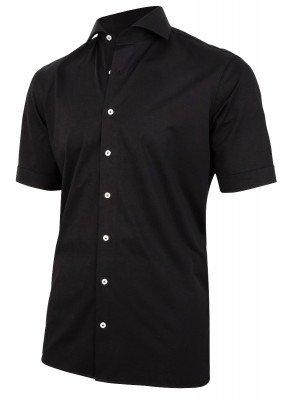 Cavallaro Napoli Cavallaro Napoli Heren Overhemd - Franco Overhemd - Zwart