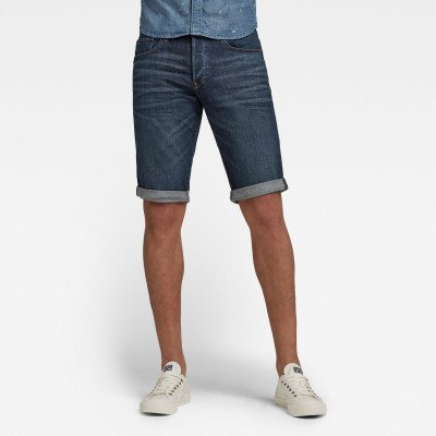 G-Star RAW 3301 Denim Shorts - Donkerblauw - Heren