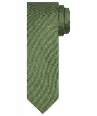 Profuomo Profuomo heren groene uni zijden stropdas