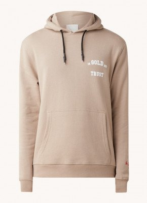 In Gold We Trust In Gold We Trust Hoodie met logo- en backprint