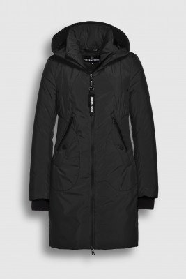 Creenstone Creenstone Technical coat with smocked details - Black