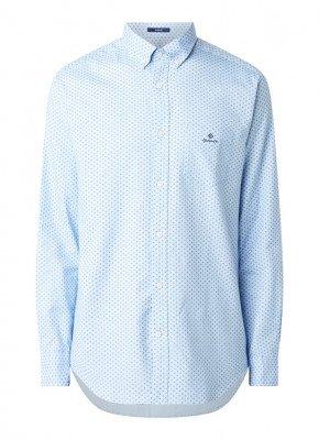 Gant Regular fit overhemd met microdessin