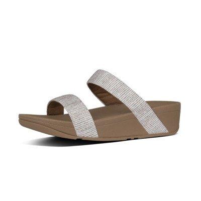 FitFlop FitFlop Lottie Glitter Stripe Slides slippers grijs