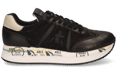 Premiata Premiata Conny 4821 Zwart Damessneakers