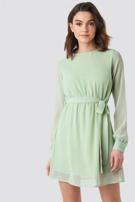 NA-KD NA-KD Chiffon Dress - Green