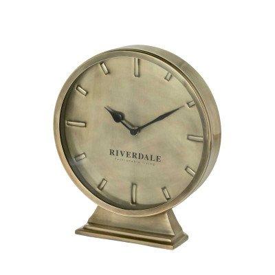 Riverdale NL Tafelklok Ray goud 24cm