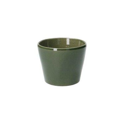 DilleenKamille Bloempot, aardewerk, donkergroen,Ø 11,5 cm