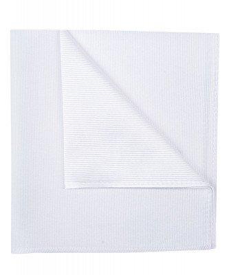 Profuomo Profuomo heren witte uni zijden pochet