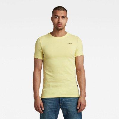 G-Star RAW Slim Base R T-Shirt - Geel - Heren