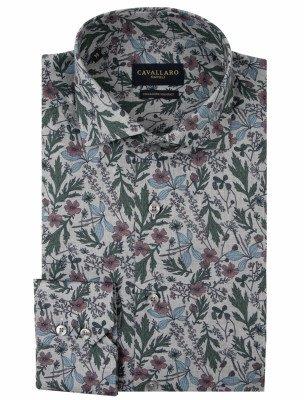 Cavallaro Napoli Cavallaro Napoli Heren Overhemd - Florado Overhemd - Grijs