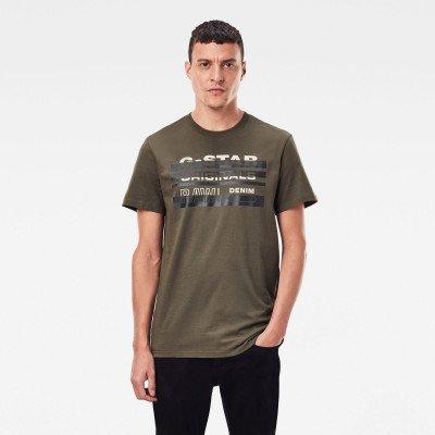 G-Star RAW Originals Stripe Logo T-Shirt - Groen - Heren
