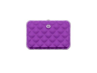 Ogon Designs Ogon Dames Creditcardhouder Quilted Button Purple
