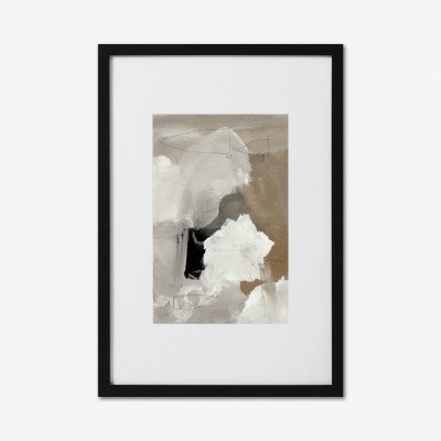 MADE.COM Dan Hobday, 'Clouds', gemonteerde ingelijste print, A2