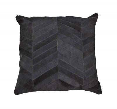 By-Boo By-Boo Kussen 'Victory' Leer, 45 x 45cm, kleur zwart