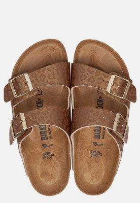 Birkenstock Birkenstock Arizona Leopard slippers goud
