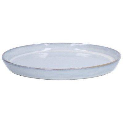 DilleenKamille Bord reactieve glazuur, steengoed, grijs,Ø 26 cm