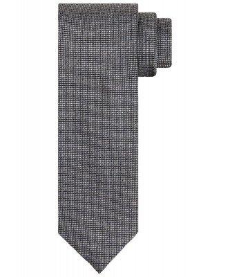 Profuomo Profuomo heren grijs zijden stropdas