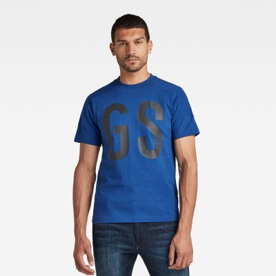 G-Star RAW Rugby Graphic Loose T-Shirt - Midden blauw - Heren
