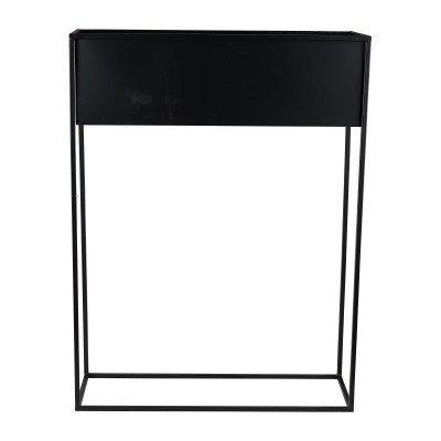 Xenos Bloempot op voetjes - zwart - 60 x 20 x 80 cm
