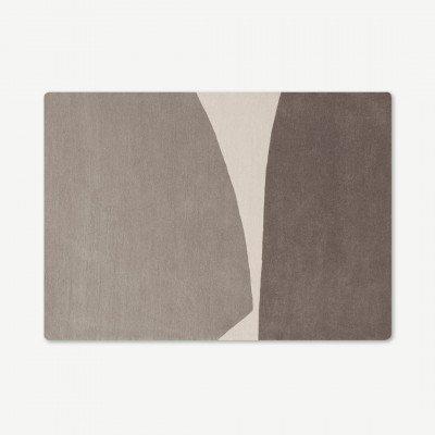 MADE.COM Isola andgetuft wollen vloerkleed, 160 x 230 cm, papyruswit