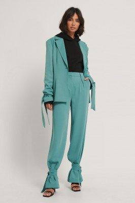 Hoss x NA-KD Hoss x NA-KD Pantalon Met Pijpen Met Strik - Blue