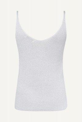 Ambika Ambika Shirt / Top Grijs Singlet lurex