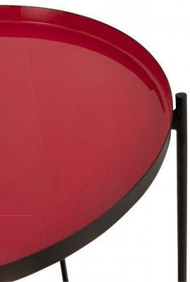 J-Line J-Line Bijzettafel 'Trinette' kleur Rood