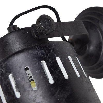 Urban Interiors Urban Interiors wandlamp 'Vintage' Ø11,5cm, kleur Rough Black