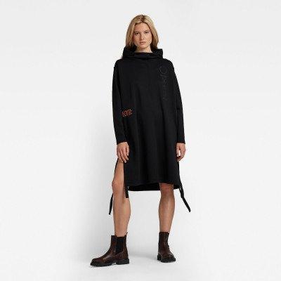 G-Star RAW Hoodie Sweaterjurk Long - Zwart - Dames