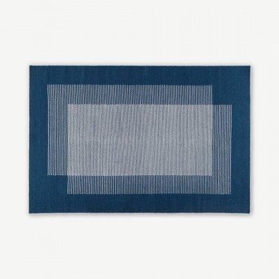 MADE.COM Caixa wollen vloerkleed, groot, 160 x 230 cm, indigoblauw
