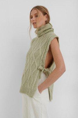 Mango MANGO Manati Sweater Waistcoat - Green