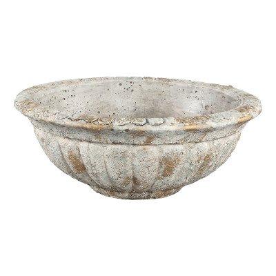 Manuel grey cement gold spots bowl round l
