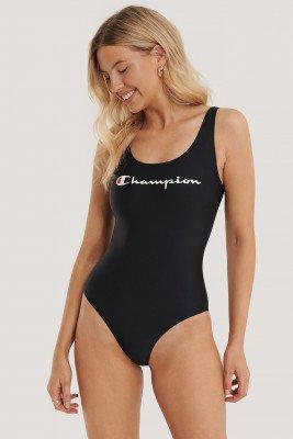 Champion Champion Logo Swimming Suit - Black