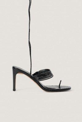 NA-KD Shoes NA-KD Shoes Sandalen Met Hoge Hak - Black