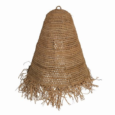 Firawonen.nl Kaj natural woven sisal raffia lampshade