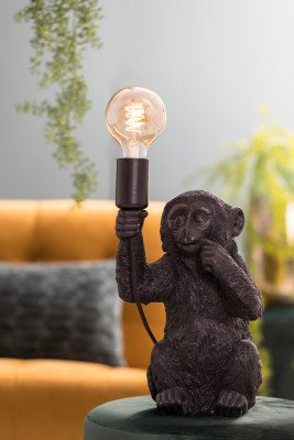 Light & Living Light & Living Tafellamp 'Monkey', zwart