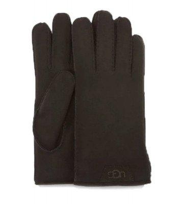 UGG UGG Shearling Leather Trim Zwart Heren Handschoenen