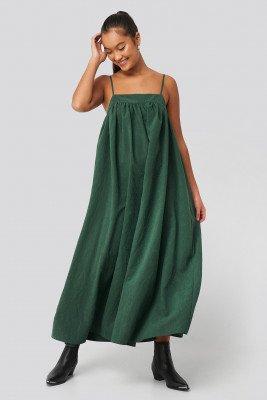 NA-KD Trend NA-KD Trend Thin Strap Volume Midi Dress - Green