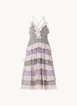 Maje Maje Rissola maxi jurk met bloemenprint en volant