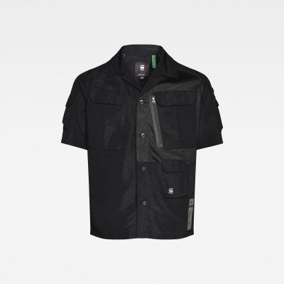 G-Star RAW E Utility Cropped Shirt - Zwart - Heren