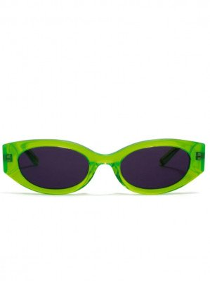 Hot Futures Hot Futures unisex vegan Zonnebril Cosmic Rebel - Acid Green   Smoke Lens Groen ONE SIZE