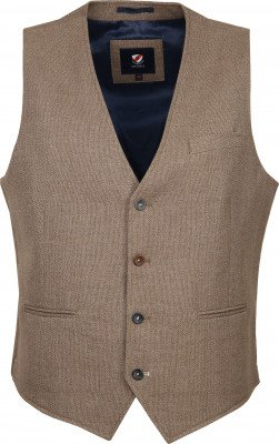 Suitable Gilet Kris Camel - Beige maat 50