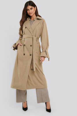 NA-KD Classic NA-KD Classic Classic Belted Trench Coat - Beige
